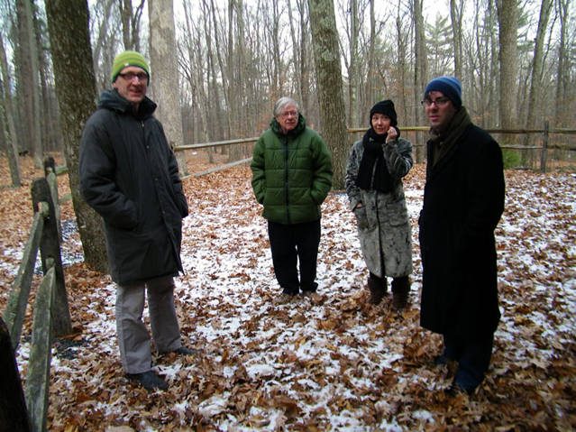 The Open Space in Woodstock, 2010. (From L to R, Russell Richardson, Ben Boretz, Dorota Czerner, Dean Rosenthal.) Photo by Karin Rosenthal.